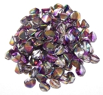 7.5 Grams of Czech 7mm Pinch Beads - Crystal Magic Purple